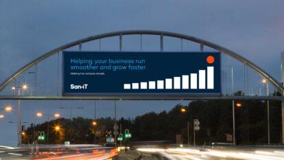 San-iT advertising billboard